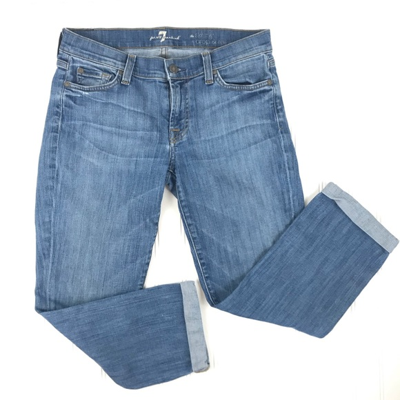 7 For All Mankind Denim - 7 for all Mankind | the Skinny Crop & Roll Size 27